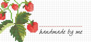 Jam Jar Labels : Cross Stitch Strawberry