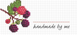 Jam Jar Labels : Cross Stitch Blackberry