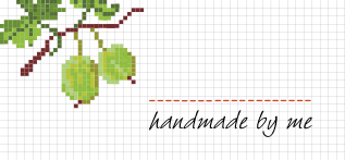 Jam Jar Labels : Cross Stitch Gooseberry