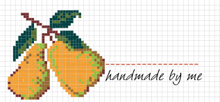 Jam Jar Labels : Cross Stitch Pear