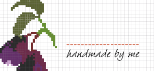 Jam Jar Labels : Cross Stitch Plum