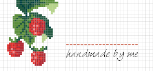 Jam Jar Labels : Cross Stitch Raspberry