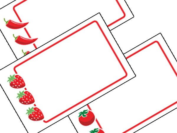 Buy Fruit & Veg Labels from Love Jars