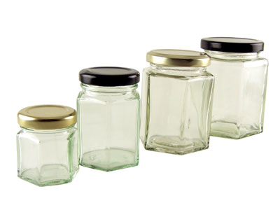 Buy Hexagonal Jars from Love Jars
