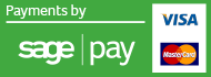 credit and debit card payments securely processed by sage pay