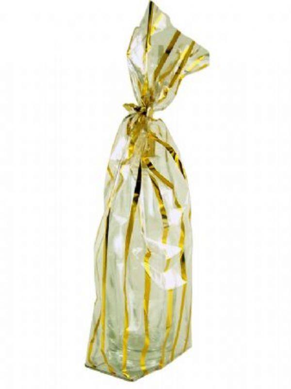 """Buy Gift Bag - Gold Stripe Pack 5 from Love Jars"""