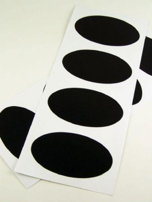 """""""Buy Black Chalkboard Labels - Oval from Love Jars"""""""