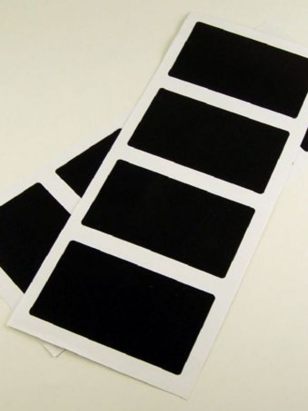 """Buy Black Chalkboard Labels - Rectangular from Love Jars"""