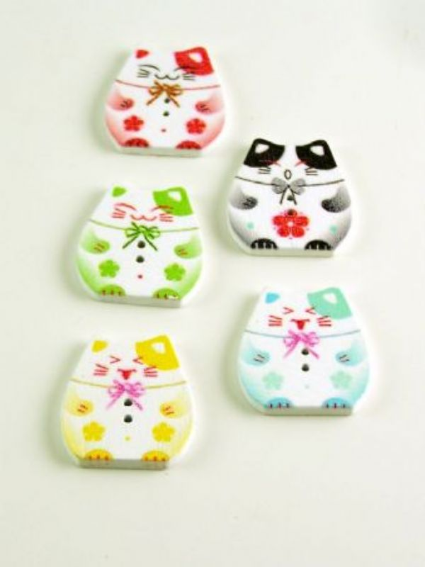 """""""Buy Colourful Kitten Buttons from Love Jars"""""""