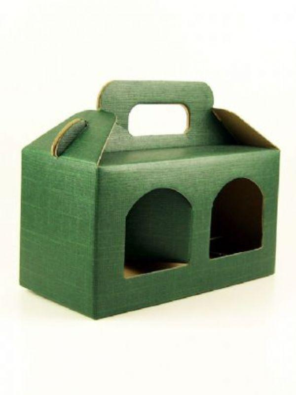 """Buy Carry Box 2 x 8oz jars Green from Love Jars"""