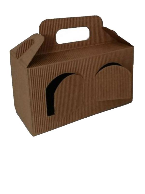 """Buy Carry Box 2 x 8oz jars Kraft pack 10 from Love Jars"""