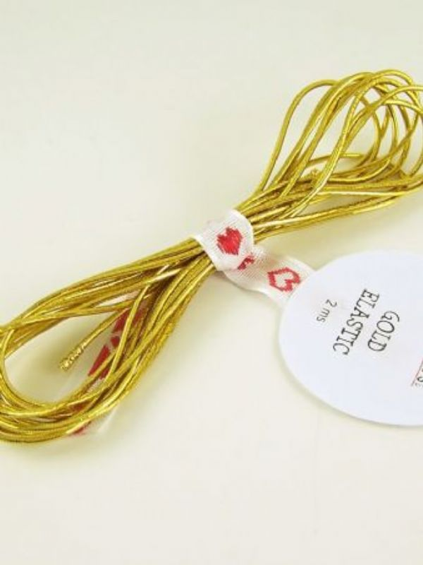 """""""Buy Elastic Cord Gold 2mtr from Love Jars"""""""
