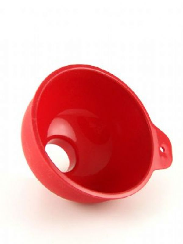 """Buy Jam Jar Funnel Red Silicone from Love Jars"""
