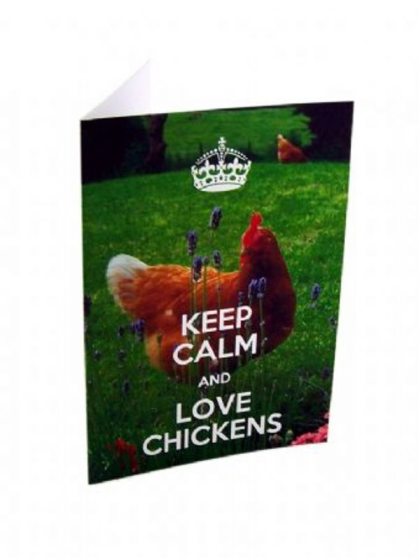 """Buy Keep Calm and Love Chickens Card from Love Jars"""