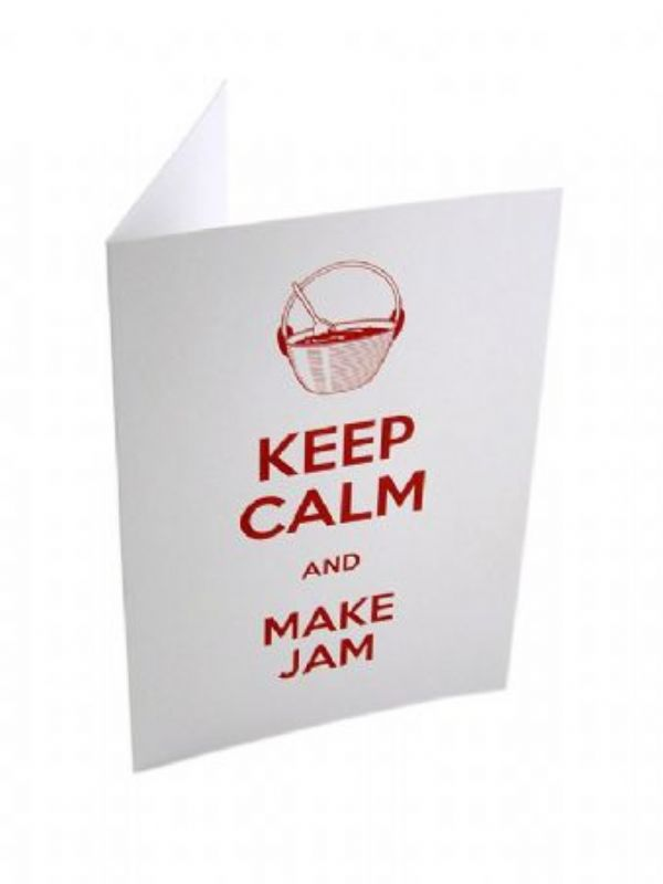"""Buy Keep Calm and Make Jam Card from Love Jars"""