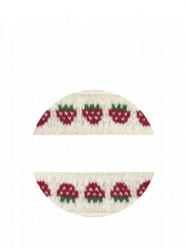"""""""Buy Lid Labels 40mm Strawberry Knit from Love Jars"""""""