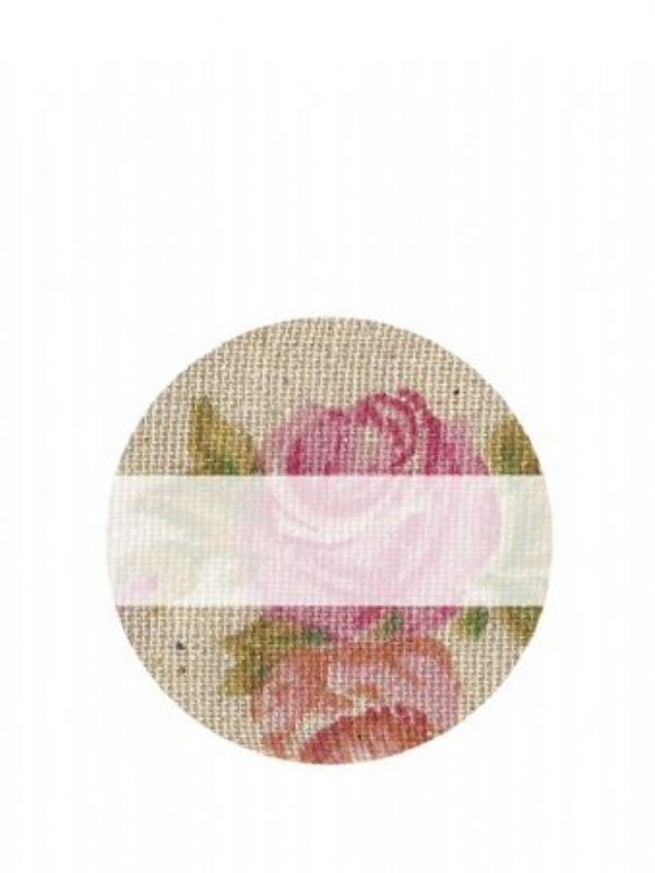 """""""Buy Lid Labels 40mm Vintage Rose from Love Jars"""""""
