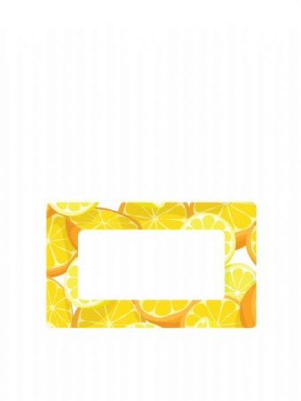 """Buy Jar Labels 63x38mm Orange & Lemon from Love Jars"""