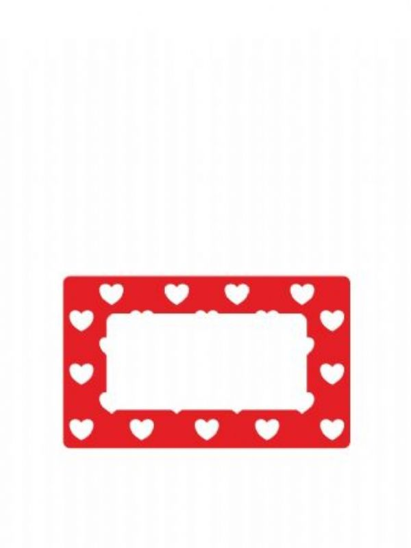 """Buy Jar Labels 63x38mm Red Hearts from Love Jars"""