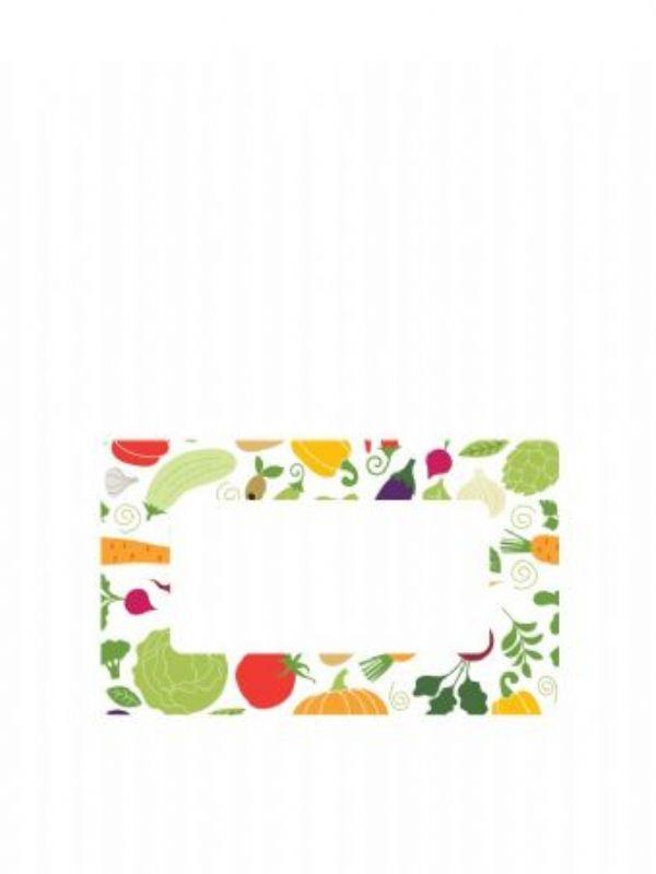 """Buy Jar Labels 63x38mm Summer Vegetables from Love Jars"""