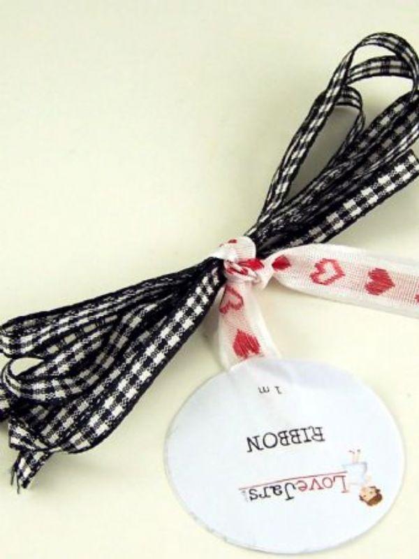 """Buy Ribbon Black Gingham from Love Jars"""