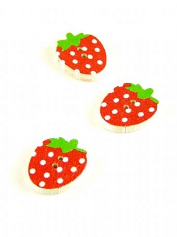 """""""Buy Spotty Strawberry Button from Love Jars"""""""