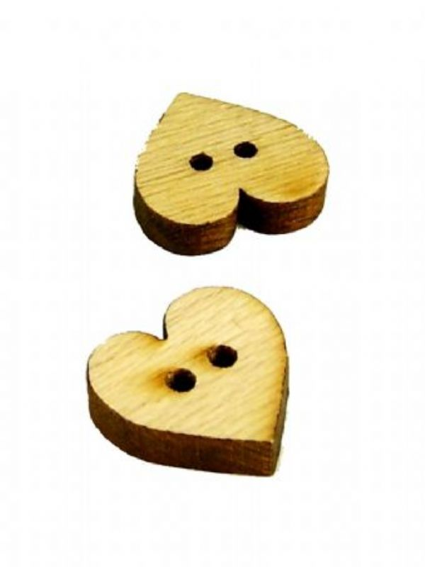 """""""Buy Wooden Heart Button from Love Jars"""""""