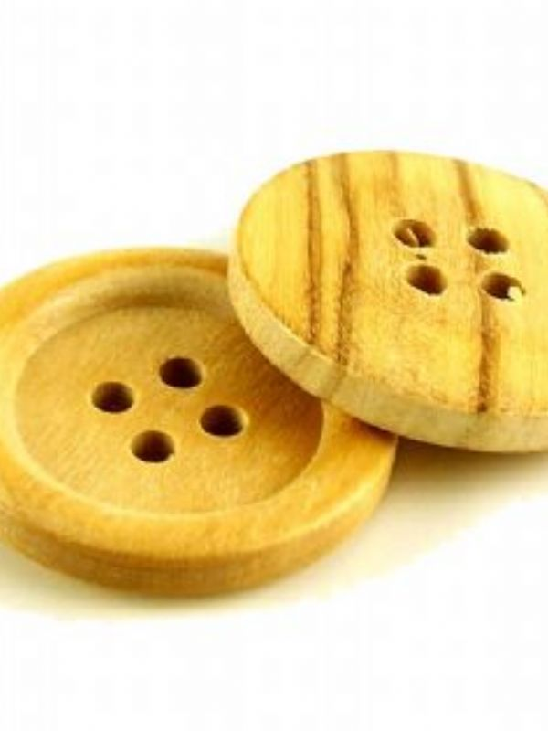 """""""Buy Round Wooden Jumbo Button from Love Jars"""""""