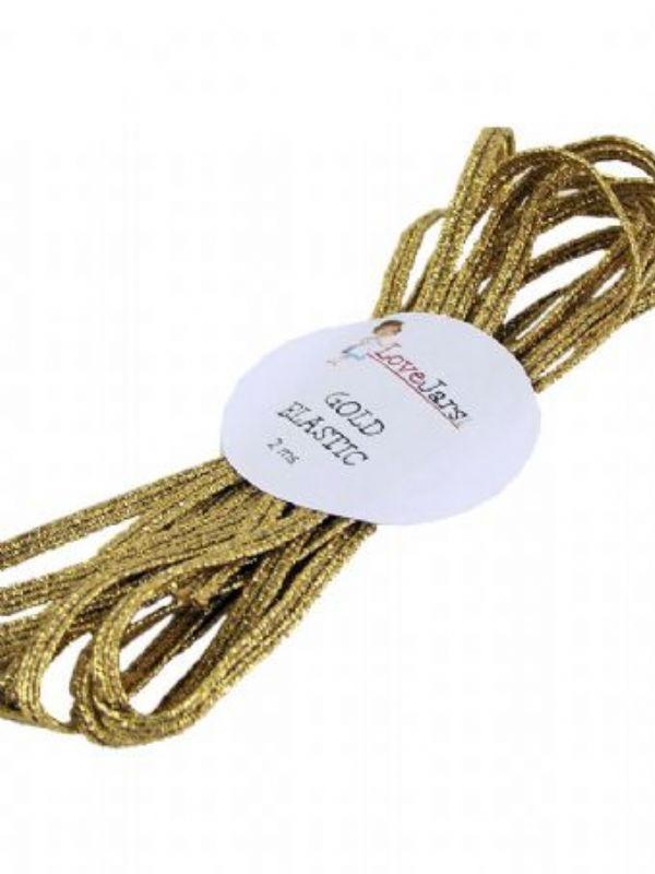 """Buy Elastic Braid Gold 2mtr from Love Jars"""