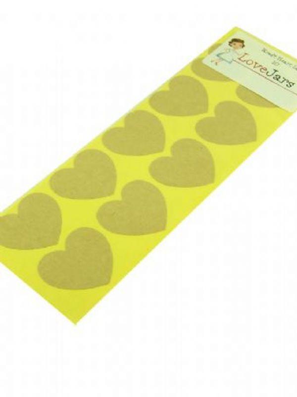 """Buy Kraft Heart Labels from Love Jars"""