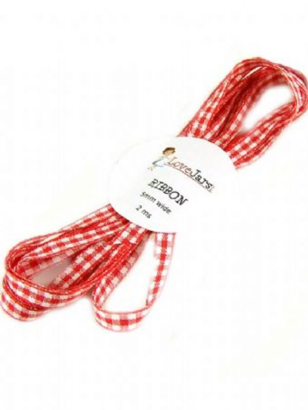 """Buy Ribbon Red Gingham from Love Jars"""
