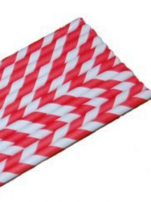 """""""Buy Straws-Red Stripe Pk12 from Love Jars"""""""