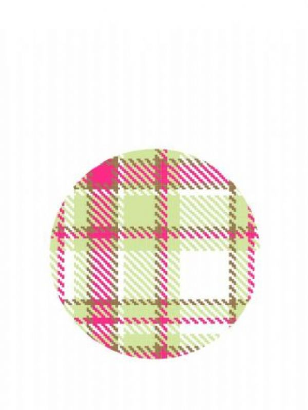 """""""Buy Lid Topper 40mm Summer Frock Plaid from Love Jars"""""""