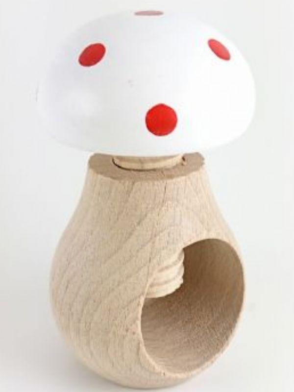 """Buy Wooden Toadstool Nutcracker White from Love Jars"""