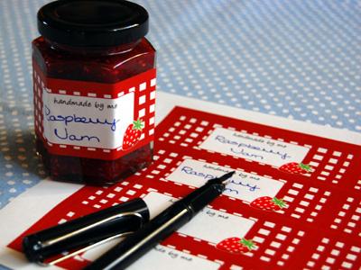 Visit our jam jar shop for jam jar labels